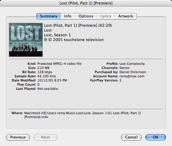 Analyze: iTunes 6 0 Video Files – Dan Dickinson: The Primary